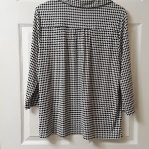 212 Collection Tops - 212 Collection XL Houndstooth popover top